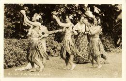 Hawaii, HONOLULU, Hula Dancers, Dancing Girls (1920s) RPPC - Honolulu