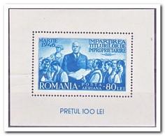 Roemenië 1946, Postfris MNH, Land Reform - San Marino