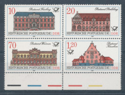 2687 à 2690**Hôtels Des Postes En Bloc De 4 - [6] Democratic Republic