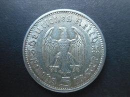 Germany 5 Reichsmark 1935 A Paul Von Hindenburg - [ 4] 1933-1945 : Third Reich