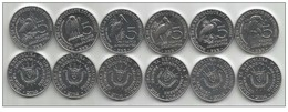 Burundi 6 X 5 Francs 2014. UNC Birds - Burundi