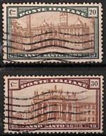 [829694]Italie 1924 - N° 163/64, Année Sainte - 1900-44 Vittorio Emanuele III