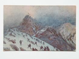 Cascella 9 Croce Rossa Italiana Prima Guerra Pubblicita Pubblicitaria Militare WWI Viaggiato 3 Serie N. 13 Col Di Lana - Illustratori & Fotografie