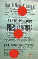 Charneux 1966 Vente Publique De Terrain  Hirvache & Asse Notaire Guy Lousberg à Herve - Affiches
