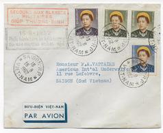 VIETNAM - 1952 - ENVELOPPE SECOURS AUX BLESSES MILITAIRES à SAÏGON - SERIE IMPERATRICE - Vietnam
