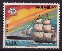 Paraguay 1974, Ship, Minr 2565, MNH. Cv 3,50 Euro - Paraguay