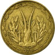 Monnaie, West African States, 5 Francs, 1976, TTB, Aluminum-Nickel-Bronze, KM:2a - Ivory Coast