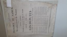 Demande De Concession De Mine De Houille à Andenne En 1818 - Posters