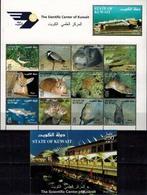 MDA-BK1-111-4 MINT ¤ STATE OF KUWAIT 2002 KOMPL. SET ¤ ANIMALS - MAMMALS - BIRDS - REPTILS - FISH - BATS AND MORE - Game