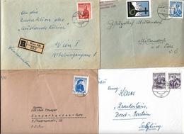 1690g: Lot Interessanter Trachtenfrankaturen (2 Scans- 8 Belege) - 1945-.... 2ème République
