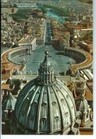 CP Italie Vatican Rome Place St Pierre Vue Aérienne Brillante - Vatican