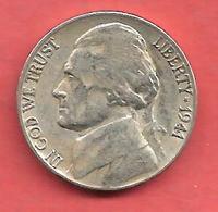 5 Cents , Five Cents , ETATS UNIS , Cupro-Nickel , 1941 S , JEFFERSON - 1938-42: Pre-war Composition