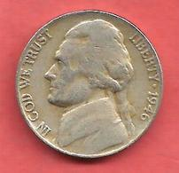 5 Cents , Five Cents , ETATS UNIS , Cupro-Nickel , 1946 , JEFFERSON - 1938-…: Jefferson