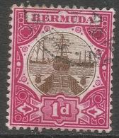 Bermuda. 1902-3 Dry Dock. 1d Used. Crown CA W/M SG 32 - Bermuda