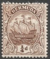 Bermuda. 1910-25 Ship.  ¼d MH. Pale Brown. Mult Crown CA W/M SG 44a - Bermuda