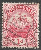 Bermuda. 1910-25 Ship. 1d Used. Mult Crown CA W/M SG 47 - Bermuda