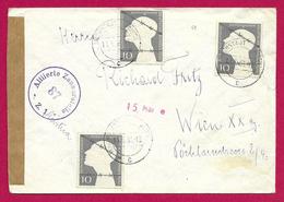 Enveloppe Avec Censure Datée De 1953 - Voyagée D'Höchstadt An Der Aisch En Allemagne Vers Vienne En Autriche - Sovjetzone