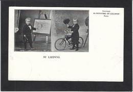 CPA Nain Liliputien Phénomène Cirque Circus Cirk Non Circulé Vélo Cycle - Circus