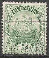 Bermuda. 1922-34 Ship. ½d Used. Mult Script CA W/M SG 77a - Bermuda