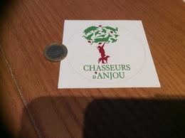 AUTOCOLLANT, Sticker * «Chasseurs D'Anjou» (chasse, Chien, Sanglier, Lapin, Cerf, Oiseau) - Autocollants