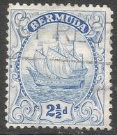 Bermuda. 1922-34 Ship. 2½d Used. Blue (Type I) Mult Script CA W/M SG 82 - Bermuda