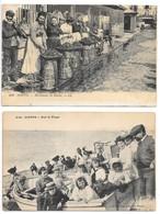 2 Cpa...Dieppe...marchande De Moules...animée...1920...// Sur La Plage...animée..(gros Plan)... - Dieppe