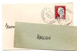 LOIRE ATLANTIQUE - Dépt N° 44 = MOISDON La RIVIERE  1961 = CACHET A8 Sur MARIANNE De DECARIS - Manual Postmarks