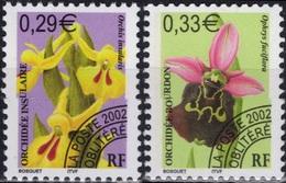 FRANCE Préo 244 Et 245 ** MNH Fleur Sauvage Orchidée Orchid Insulaire Bourbon (CV 6 €) - Préoblitérés
