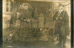 CARTE- PHOTO De Mr Et Mme ALBERT, CORDIERS Aux ESSARTS - Les Essarts