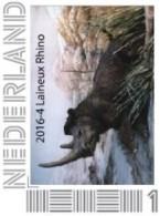 Nederland 2016-4  Prehistorie Laineux Rhino  Prehistoric   Postfris/mnh/sans Charniere - Period 2013-... (Willem-Alexander)