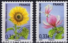 FRANCE Préo 257 à 258 ** MNH Fleur Sauvage Tournesol Et Magnolia (CV 6 €) - Préoblitérés