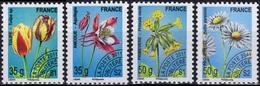 FRANCE Préo 259 à 262 ** MNH Fleur Sauvage Tulipe Primevère Ancolie Pâquerette (CV 12 €) - Préoblitérés