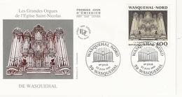 """FDC - France Env. 1er Jour """"les Grandes Orgues De L'église St Nicolas De Wasquehal"""" 22.06.91 - Timbre 2706 - 1990-1999"""