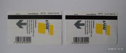 BELGIUM  Bus Tickets From De Lijn, Antwerp. Tickets Face Value: 16.00 Euro (8.00X2) Used. - Titres De Transport