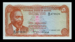 # # # Banknote Kenia (Kenya) 5 Schillingi 1975 AU # # # - Kenya