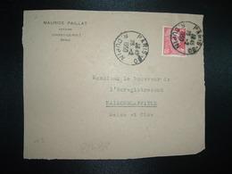 DEVANT TP M. DE GANDON 15F OBL.23-2 1950 PARIS 80 + MAURICE PAILLAT NOTAIRE CHOISY LE ROI (94) - Marcophilie (Lettres)