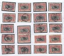 Plating / Planchage 1 Fr 1894 Carmin 20 Diff. Positions - 1894-1923 Mols: Oblitérés