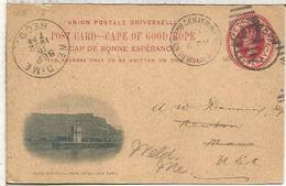 CABO DE BUENA ESPERANZA 1902 ENTERO POSTAL TABLE MOUNTAIN CAPE TOWN - Afrique Du Sud (...-1961)