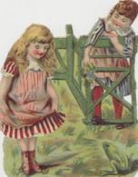 Chromos - Découpi 1900 - Enfants Fillettes Grenouilles - Children