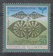 TIMBRE NEUF D'ALLEMAGNE ORIENTALE - MACHINE VOLANTE D'ALBRECHT-LUDWIG BERBLINGER N° Y&T 2917 - Vliegtuigen