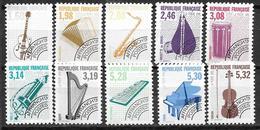 France 1992 Préoblitérés N° 213A/223A Neufs Dentelés 12 Musique à 20% De La Cote - Préoblitérés