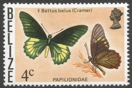 Belize. 1974 Butterflies Of Belize. 4c MH SG 407 - Belize (1973-...)