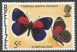 Belize. 1974 Butterflies Of Belize. 5c MH SG 408 - Belize (1973-...)