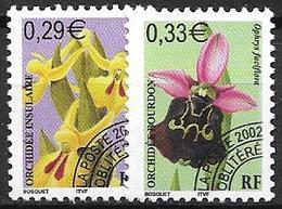 France 2002 Préoblitérés N° 244/245 Neufs Orchidées à 20% De La Cote - Préoblitérés