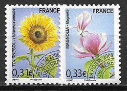 France 2008 Préoblitérés N° 257/258 Neufs Orchidées à 20% De La Cote - Préoblitérés