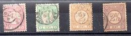 Serie De Holanda N ºYvert 30/33 (o) - 1852-1890 (Guillaume III)