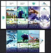 FIDJI Fiji 1272/74 Fibre Optique, Plongée Sous-marine, Vanuatu 1457/59 - Emissions Communes