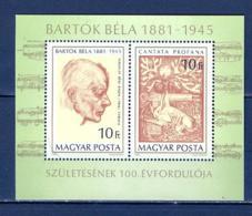 Hongrie   Yvert  BF  152   * *   TB   Musique Bartok - Blocs-feuillets