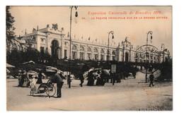 Brussel 1910 La Façade Principale Vue De La Grande Entrée Exposition Bruxelles Cpa Animée - Expositions Universelles
