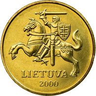 Monnaie, Lithuania, 50 Centu, 2000, TTB, Nickel-brass, KM:108 - Lituanie